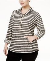 Style&Co. Style & Co. Plus Size Striped Cowl-Neck Top, Only at Macy's