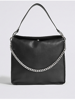 M&S Collection Faux Leather Chain Slouch Hobo Bag