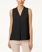 Vince Camuto Inverted-Pleat Blouse