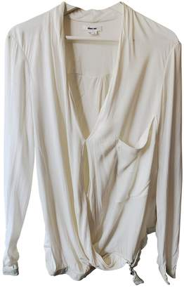 Helmut Lang White Leather Tops