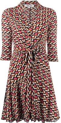 Dvf Diane Von Furstenberg Yara Walls-print shirt dress