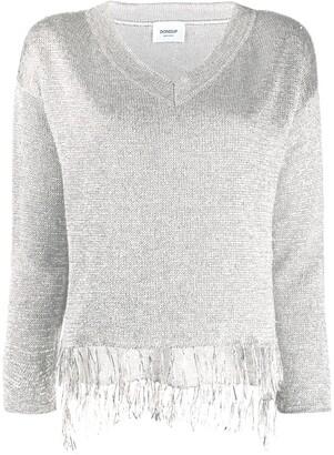 Dondup knitted metallic fringed jumper