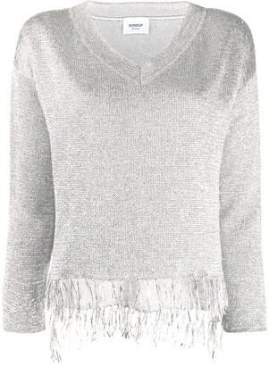 Dondup Knitted Metallic Fringed Jumper