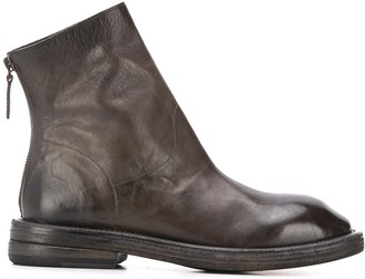 Marsèll Square Toe Back Zip Boots