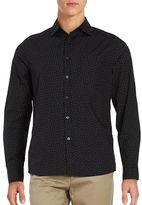 Kenneth Cole New York Fashion-Dot Print Cotton Shirt