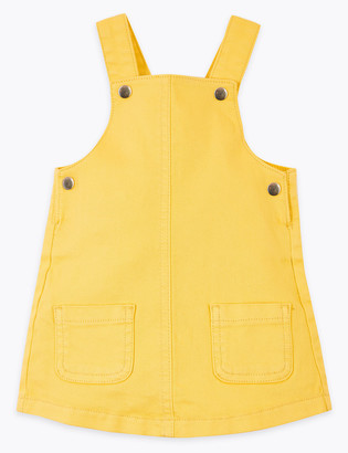 Marks and Spencer Coloured Denim Pinafore (0-3 Yrs)