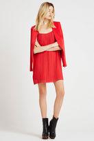 BCBGeneration Strappy Pleated Dress - Cardinal