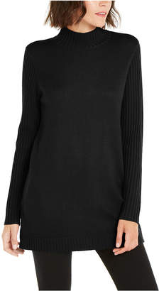 INC International Concepts Inc Mock-Neck Stitched Tunic