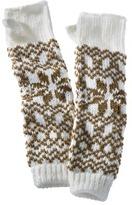Winter Fairisle Extended Gauntlet Gloves - Ivory