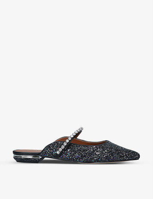 Kurt Geiger Princely 2 snake-print faux leather mules