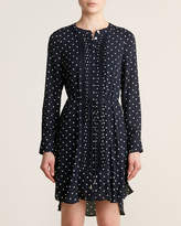 Tommy Hilfiger Long Sleeve Pleated Polka Dot Shirtdress