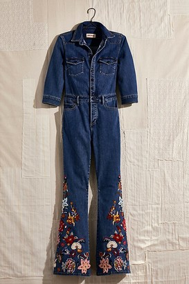 Driftwood Free People x Farrah Embroidered Jumpsuit