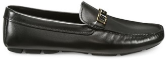 Prada Logo Leather Horsebit Loafers