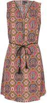 Izabel London Tile Print Zip Front Dress