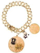 14K Diamond & Enamel Charm Bracelet