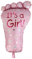 Generic It's A Girl Foot Balloon for Baby Shower Christening Birthday