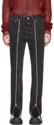 John Lawrence Sullivan Johnlawrencesullivan Grey Zip Front Jeans