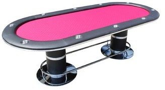 """10 Piece 96"""" Players Texas Hold'em Poker Table Set IDS Online Corp Color: Red"""