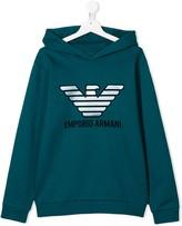 TEEN logo print hoodie