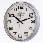 The Well Appointed House Atomic Display Metal Wall Clock in Silver