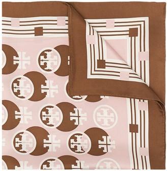 Tory Burch Monogram Print Silk Scarf
