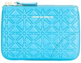 Comme des Garcons textured zipped wallet - unisex - Calf Leather - One Size