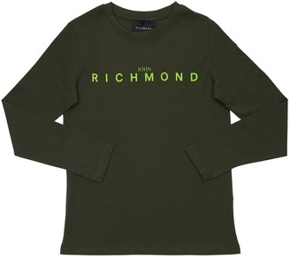 John Richmond Logo Print Cotton Jersey T-shirt
