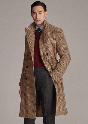 Ralph Lauren Wool-Blend-Tweed Topcoat