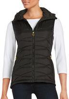 MICHAEL Michael Kors Hooded Vest Jacket