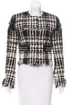 Alexander Wang Leather-Accented Bouclé Jacket w/ Tags