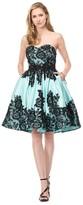 Colors Dress - 1524 Strapless Adorned Applique Dress