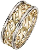 Celtic Love GOLD 9 Carat 2 Colour Gold Wedding Band 6mm