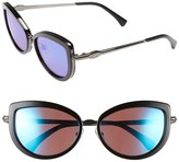 Wildfox Couture Women's Chaton Deluxe Cat Eye Plastic & Metal Frame Sunglasses