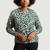 Majestic Filatures Grey Leopard Printed Sweatshirt - 1 | viscose | grey - Grey/Grey
