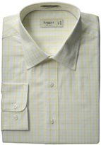 Haggar Men's Regular-Fit Poplin Patterned Dress Shirt