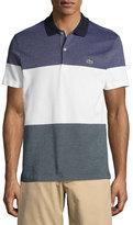 Lacoste Piqué Textured Colorblock Polo Shirt, Blue