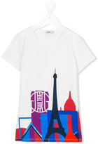 Junior Gaultier city print T-shirt - kids - Cotton/Spandex/Elastane - 14 yrs