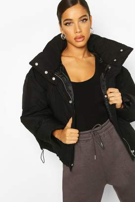 boohoo Oversized Funnel Neck Puffer