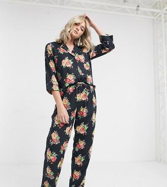 Asos Tall ASOS DESIGN Tall floral shirt & pants pyjama set in 100% modal