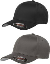 Flexfit Flex fit Unisex Wooly Combed Twill Cap 2-Pack (XL/XXL, Black & Dark Gray)