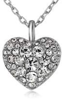 """Fossil Glitz Heart Pendant Necklace, 18"""""""