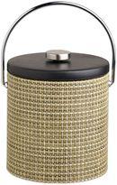 Kraftware KraftwareTM Woven Verde 3 qt. Ice Bucket with Black Vinyl Lid