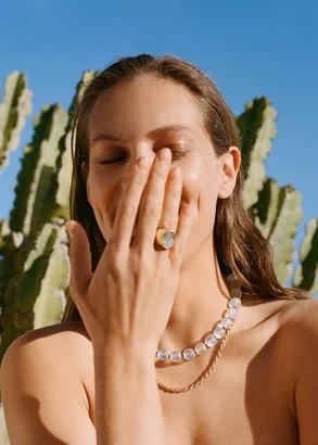 MANGO Crystal bead necklace