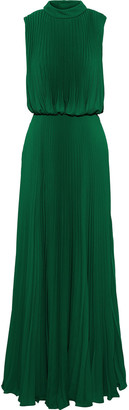 Mikael Aghal Pleated Crepe Gown