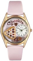 Whimsical Watches Women's C0310005 Classic Gold Chocolate Lover Pink Leather And Goldtone Watch