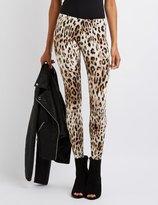 Charlotte Russe Leopard Stretch Cotton Leggings