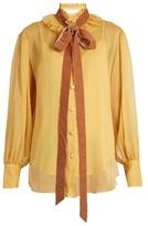 See by Chloe Crinkled-georgette blouse