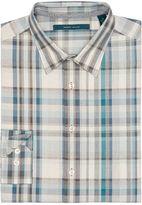 Perry Ellis Large Heather Plaid Pattern Shirt