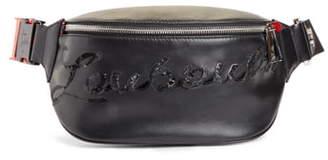 Christian Louboutin Marie Jane Sequin Logo Leather Belt Bag