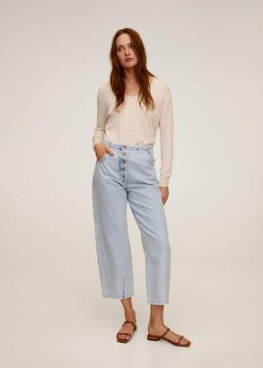 MANGO Fine-knit sweater light/pastel grey - S - Women